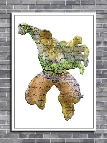 THE AVENGERS HULK Personalised map art - canvas print - self adhesive poster - photo print